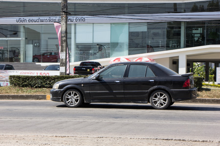 Chiangmai, Thailand - November 30 2018: Private car, Ford Focus. Photo at road no 121 about 8 km from downtown Chiangmai, thailand.
