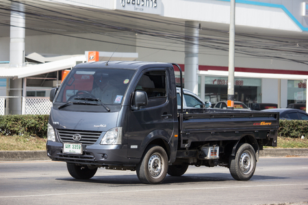 Chiangmai, Thailand - December 3 2018: Private Tata SuperACE City Giant Mini truck. On road no.1001 8 km from Chiangmai city.