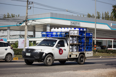 Chiangmai, Thailand - December 3 2018: Private Tata Xenon  Pickup truck. Photo at road no 121 about 8 km from downtown Chiangmai, thailand.