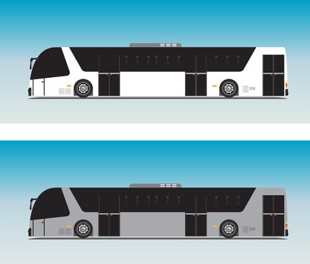 Airport Passenger bus for Ground airport service Vector