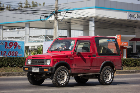 Chiangmai, Thailand - December 3 2018: Private car, Suzuki Caribian. Photo at road no.1001 about 8 km from downtown Chiangmai, thailand. Redactioneel