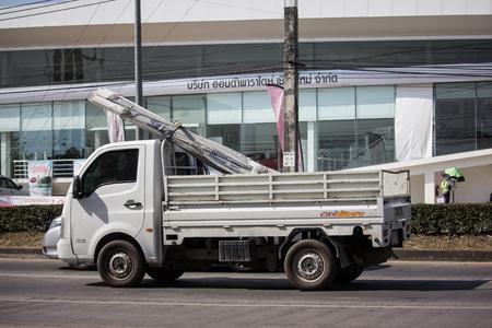 Chiangmai, Thailand - December 4 2018:  Private Tata SuperACE City Giant Mini truck. On road no.1001 8 km from Chiangmai city.