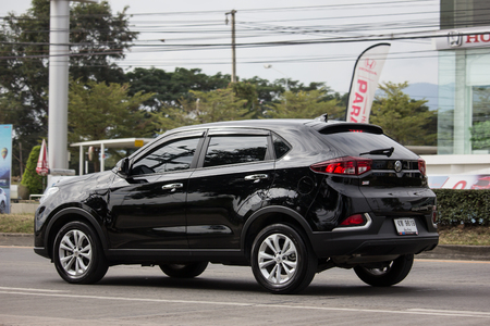 Chiangmai, Thailand - December 18 2018: Private Suv Car MG GS. Product from British automotive. On road no.1001, 8 km from Chiangmai city. Sajtókép