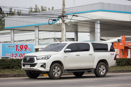 Chiangmai, Thailand - December 18 2018: Private Pickup Truck Car New Toyota Hilux Revo  Rocco. On road no.1001, 8 km from Chiangmai city. Editorial