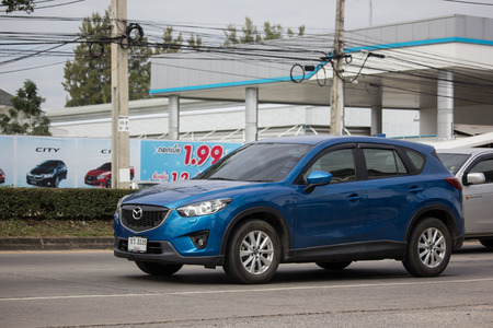 Chiangmai, Thailand - December 18 2018: Private car, Mazda CX-5,cx5. On road no.1001, 8 km from Chiangmai Business Area. Editorial