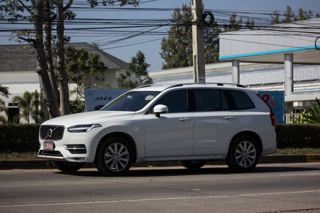 Chiangmai, Thailand - November 26 2018: Private car, Volvo XC90. Photo at road no 121 about 8 km from downtown Chiangmai, thailand.