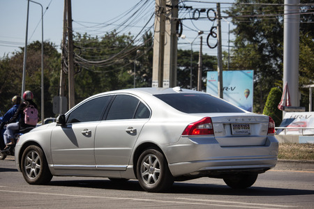 Chiangmai, Thailand - December 24 2018: Private car, Volvo S80. Photo at road no 121 about 8 km from do5ntown Chiangmai, thailand.