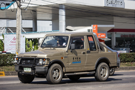 Chiangmai, Thailand - December 25 2018: Private car, Suzuki Caribian. Photo at road no.1001 about 8 km from downtown Chiangmai, thailand.