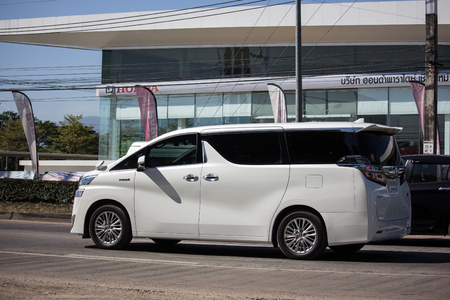 Chiangmai, Thailand - December 25 2018: Private Toyota Alphard luxury  Van. Photo at road no 121 about 8 km from downtown Chiangmai thailand. Redakční