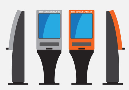 Self Check machine Vector  and illustration