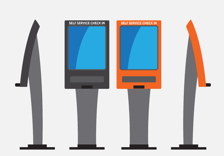 Self Check machine Vector  and illustration Banque d'images - 117086183