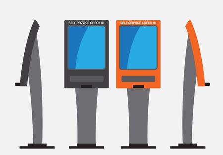 Self Check machine Vector e ilustración