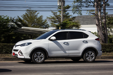 Chiangmai, Thailand - December 27 2018: Private Suv Car MG GS. Product from British automotive. On road no.1001, 8 km from Chiangmai city. Sajtókép