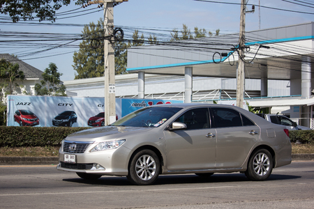 Chiangmai, Thailand - January 4 2019: Private car Toyota Camry. On road no.1001 8 km from Chiangmai Business Area.