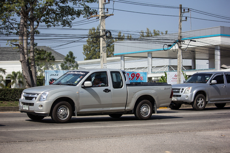 Chiangmai, Thailand - January 14 2019: Private Isuzu Dmax Pickup Truck. On road no.1001 8 km from Chiangmai city. Editorial