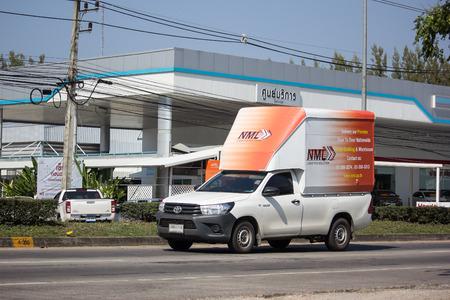 Chiangmai, Thailand - January 14 2019: Container truck of NML Logistics Transportation company. Photo at road no.121 about 8 km from downtown Chiangmai thailand.
