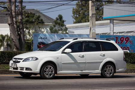 Chiangmai, Thailand - January 14 2019: Private MPV Car, Chevrolet Optra. Photo at road no 121 about 8 km from downtown Chiangmai, thailand.