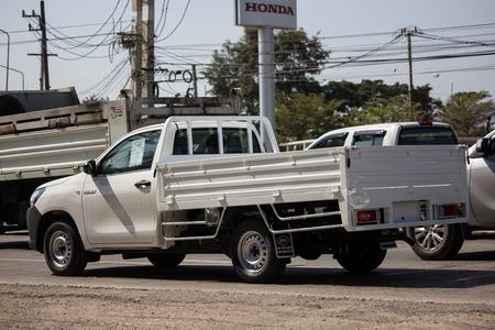 Chiangmai, Thailand - January 14 2019: Private Pickup Truck Car Toyota Hilux Revo. On road no.1001, 8 km from Chiangmai city.