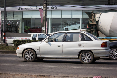 Chiangmai, Thailand - January 22 2019: Private car, Opel Astra. Photo at road no 121 about 8 km from downtown Chiangmai, thailand.