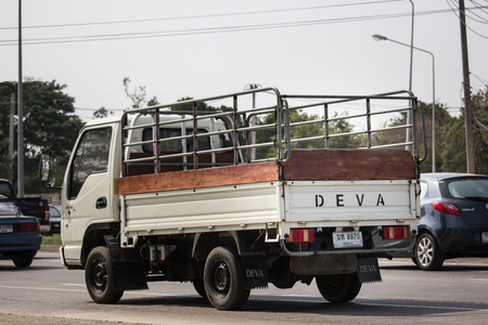 Chiangmai, Thailand - January 22 2019: Private Deva Truck. Deva is Product of China. On road no.1001, 8 km from Chiangmai Business Area.