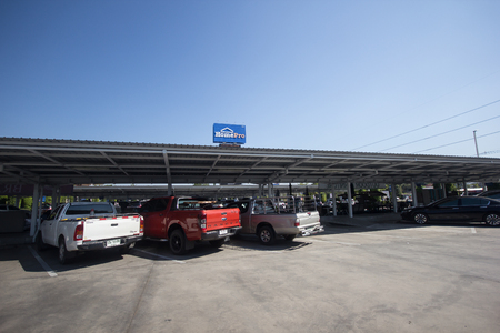 Chiangmai, Thailand - February 10 2019: Homepro  supermarket department store. Sale product and building construction. Location in sansai Urban fringe of chiangmai city. Redakční