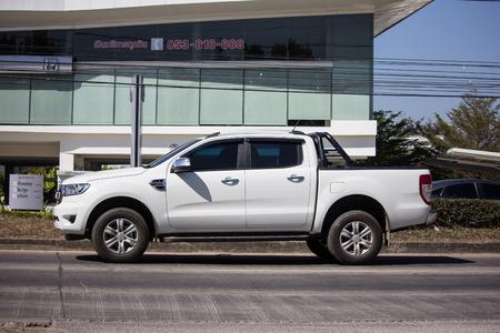 Chiangmai, Thailand - February 4 2019: Private Pickup car, Ford Ranger. On road no.1001, 8 km from Chiangmai city. Redakční