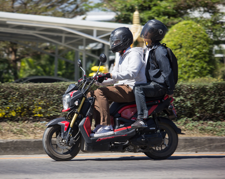 Chiangmai, Thailand - February 4 2019: Private Honda Motorcycle, Zoomer X. Photo at road no.121 about 8 km from downtown Chiangmai, thailand. Editorial