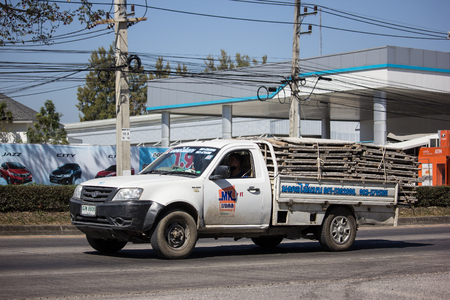 Chiangmai, Thailand - February 4 2019:   Private Tata Xenon  Pickup truck. Photo at road no 121 about 8 km from downtown Chiangmai, thailand.