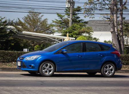 Chiangmai, Thailand - February 7 2019: Private car, Ford Focus. Photo at road no 121 about 8 km from downtown Chiangmai, thailand.