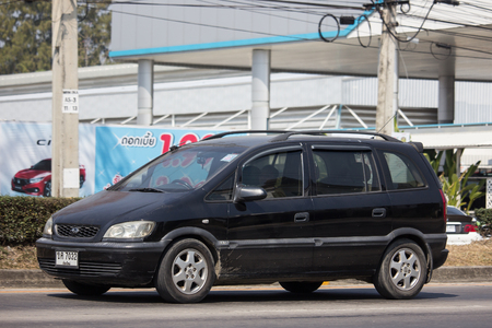 Chiangmai, Thailand - February 11 2019: Private SUV car, Chevrolet Zafira. Photo at road no.121 about 8 km from downtown Chiangmai, thailand.
