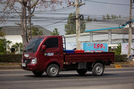 Chiangmai, Thailand - February 18 2019: Private Tata SuperACE City Giant Mini truck. On road no.1001 8 km from Chiangmai city. Editoriali