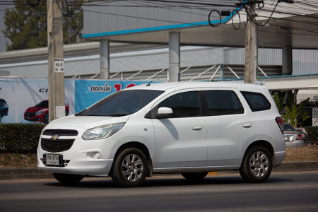 Chiangmai, Thailand - February 18 2019: Private MPV car, Chevrolet Spin. Photo at road no 121 about 8 km from downtown Chiangmai, thailand.
