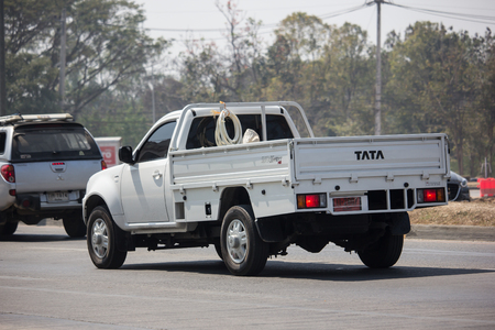 Chiangmai, Thailand - February 18 2019:  Private Tata Xenon  Pickup truck. Photo at road no 121 about 8 km from downtown Chiangmai, thailand.