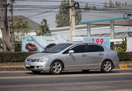 Chiangmai, Thailand - March 1 2019:  Private Sedan Car from Honda Automobil, Honda Civic. On road no.1001 8 km from Chiangmai Business Area.