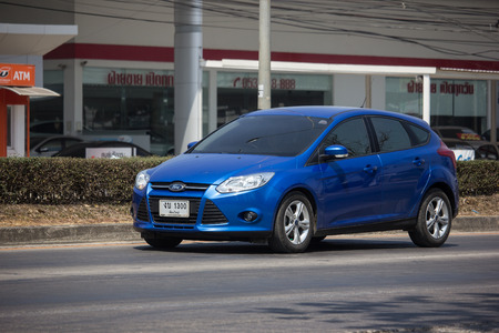 Chiangmai, Thailand - March 1 2019:  Private car, Ford Focus. Photo at road no 121 about 8 km from downtown Chiangmai, thailand. Redactioneel