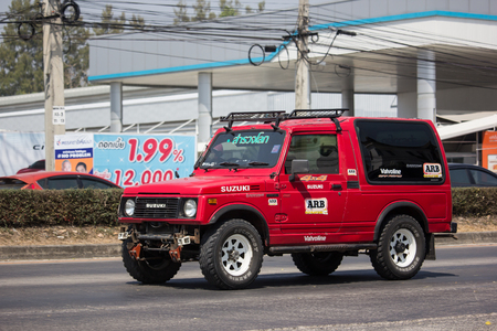 Chiangmai, Thailand - March 4 2019: Private car, Suzuki Caribian. Photo at road no.1001 about 8 km from downtown Chiangmai, thailand. Redactioneel