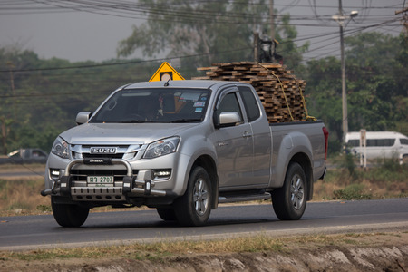Chiangmai, Thailand - March 27 2019: Private Isuzu Dmax Pickup Truck. On road no.1001 8 km from Chiangmai city. Editorial