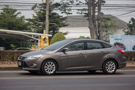 Chiangmai, Thailand - April 4 2019: Private car, Ford Focus. Photo at road no 121 about 8 km from downtown Chiangmai, thailand.