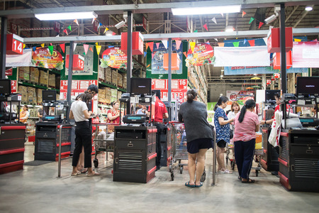 Chiangmai, Thailand - April 11 2019:  Makro Hypermarket  Chiang mai. Location on road chiangmai hangdong road about 3 km from city.