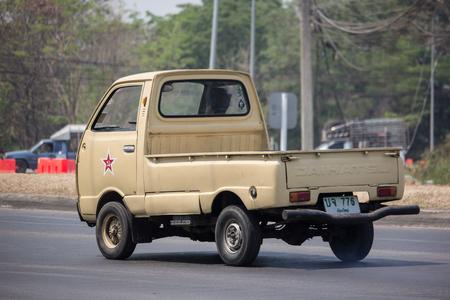 Chiangmai, Thailand - April 9 2019:  Private Daihatsu old Car. On road no.1001, 8 km from Chiangmai city.