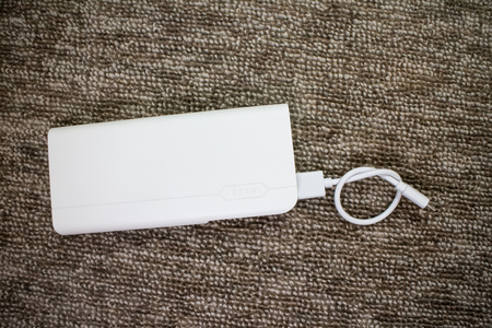 White Power Bank for Smartphone Charger