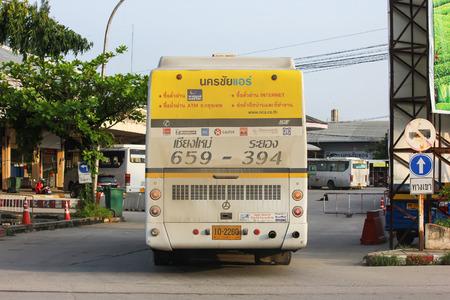 Chiangmai, Thailand - September 18 2012: Bus of Nakhonchai air. Photo at Chiangmai bus station, thailand.