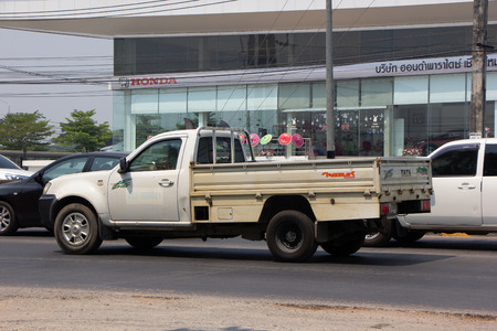Chiangmai, Thailand - April 9 2019:  Private Tata Xenon  Pickup truck. Photo at road no 121 about 8 km from downtown Chiangmai, thailand.