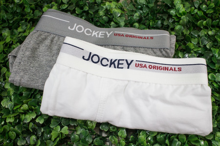 Chiangmai, Thailand - May 3 2019: Product shot of Jockey Men Innerwear.  Jockey  in thailand made and sale by Central Marketing Group. Redactioneel