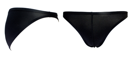 Black bikini Men Underwear on white background.