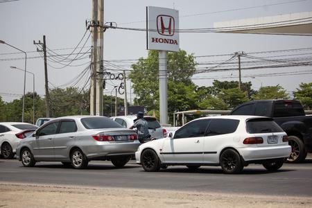 Chiangmai, Thailand - April 18 2019: Private Sedan Car from Honda Automobil, Honda Civic. On road no.1001 8 km from Chiangmai Business Area.