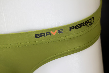 Chiangmai, Thailand - May 15 2019: Brave Person China Brand Men Underwear. Grown to all continents, including South America and Europe.  Stylish sand  affordable underwear.