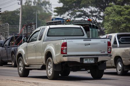 Chiangmai, Thailand - April 30 2019: Private Toyota Hilux Vigo  Pickup Truck.  On road no.1001 8 km from Chiangmai city. Editorial