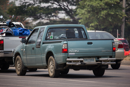 Chiangmai, Thailand - April 30 2019: Private Isuzu TFR Pickup Truck. On road no.1001 8 km from Chiangmai city. Editorial
