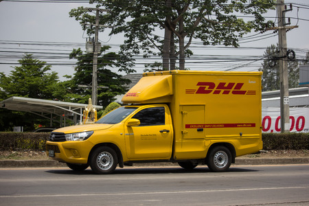 Dhl Pickup Locations >> Chiangmai Thailand May 17 2019 Dhl Express And Logistics Stock